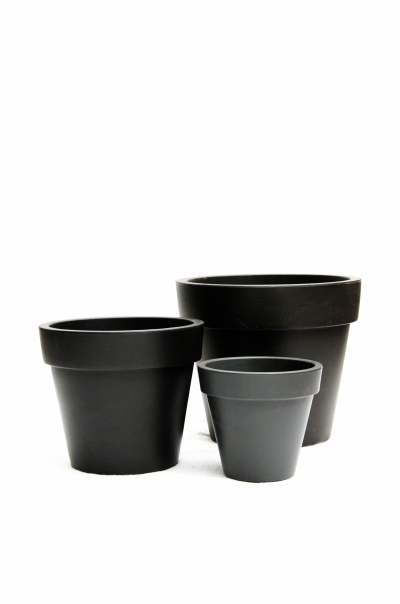 Cache-pot gris anthracite diam.60